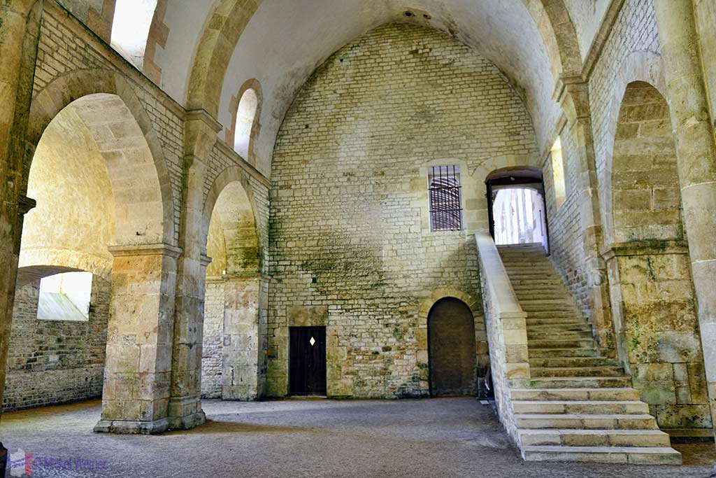 Stairs to the dormitory of the Fontenay Abbey in Montbard, Burgundy