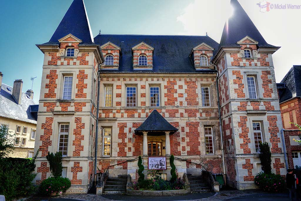 The public library in the Hotel Montpensier in Pont L'Eveque, Normandy