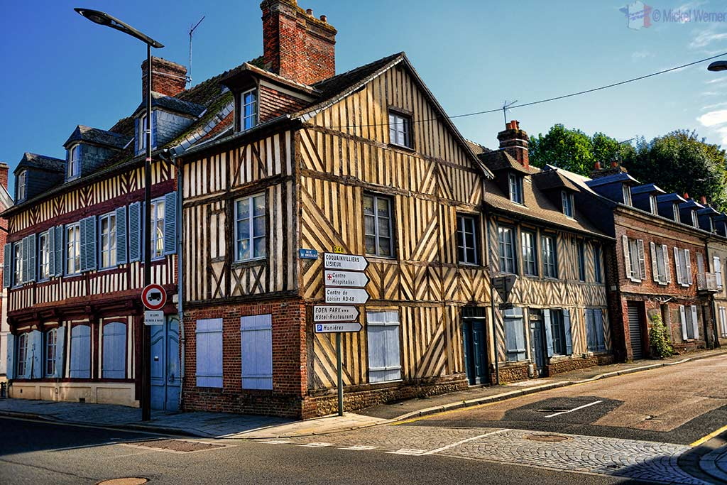 Normandy style houses in Pont L'Eveque