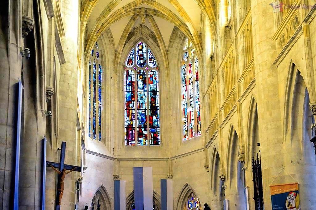New stained windows of the Saint-Michel church in Pont l'Eveque, Normandy