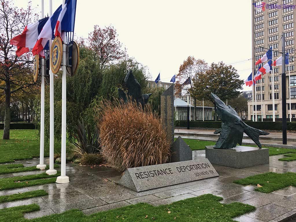 Le Havre World War II Deportations Memorial in front of city hall