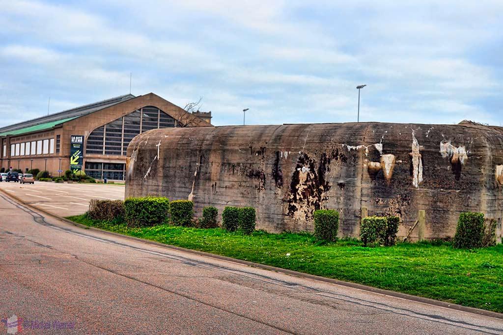WWII Bunker in front of the Cite de la Mer museum in Cherbourg