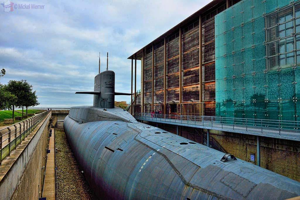 The Redoutable, nuclear submarine of the French navy at the Cite de la Mer in Cherbourg
