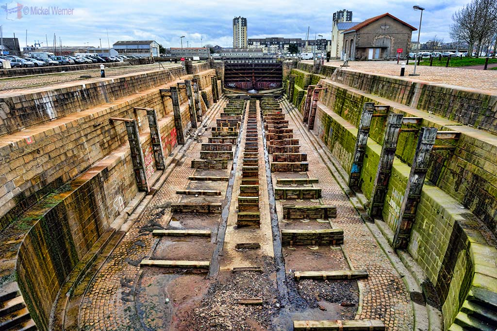 A dry-dock at the Cherbourg harbour