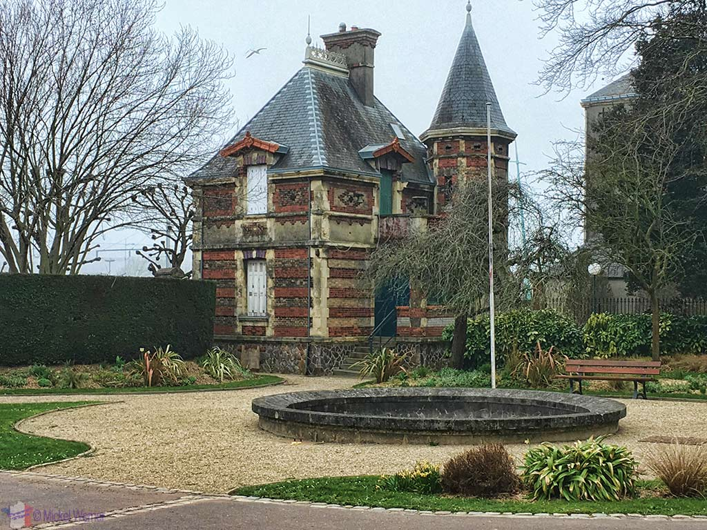 Groundkeepers house at the Public Garden of Cherbourg