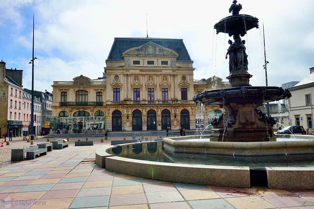 Theatre in the main square of Cherbourg
