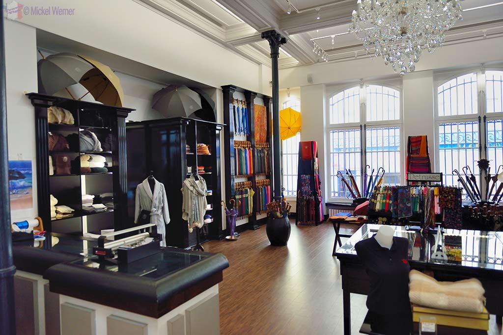 Umbrellas shop at the Cherbourg Umbrella factory and museum