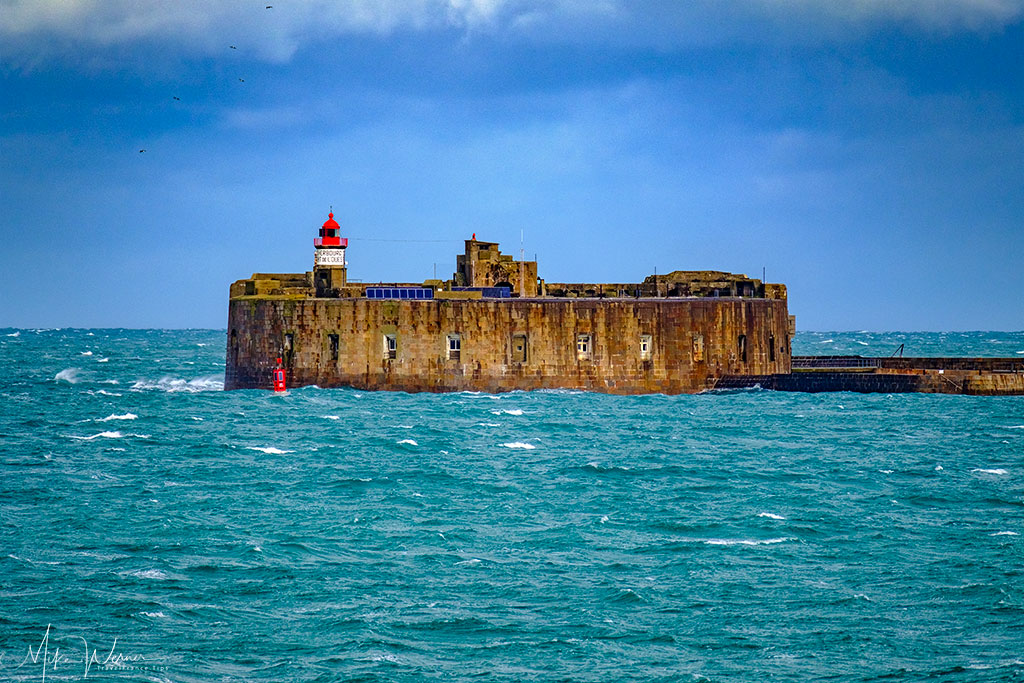 Cherbourg harbour fortress and lighthouse Phare du fort de l'Ouest