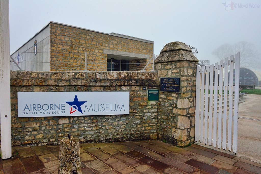 Entrance to the Airborne museum of Sainte-Mere-Eglise