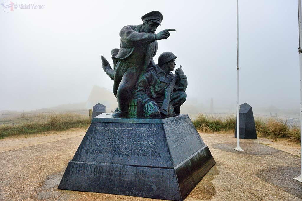 Memorial Statue on the Utah Beach in Normandy