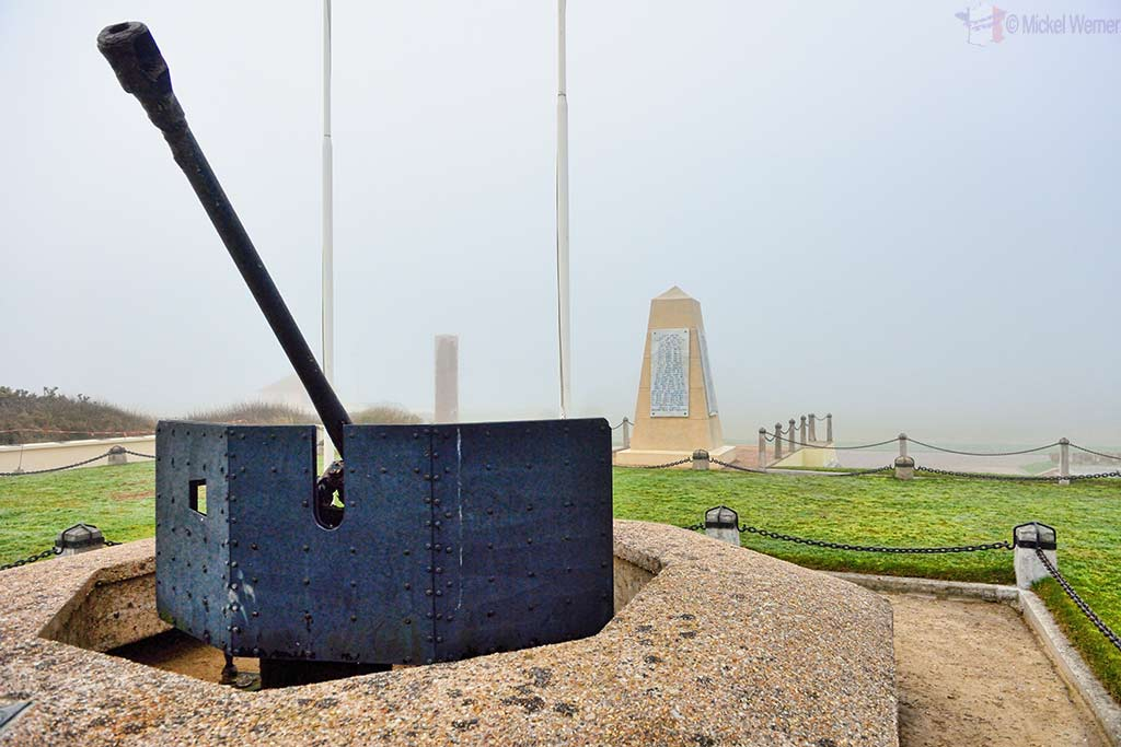 Anti-aircraft cannon on the Utah Beach in Normandy