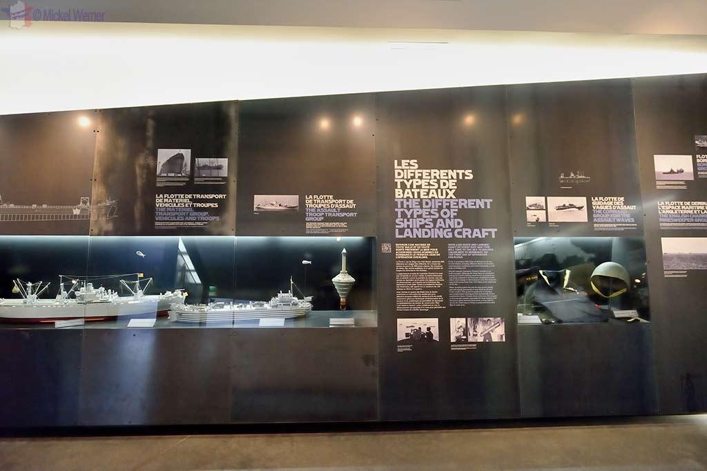 WWII scaled models display at the Utah Beach Landing museum