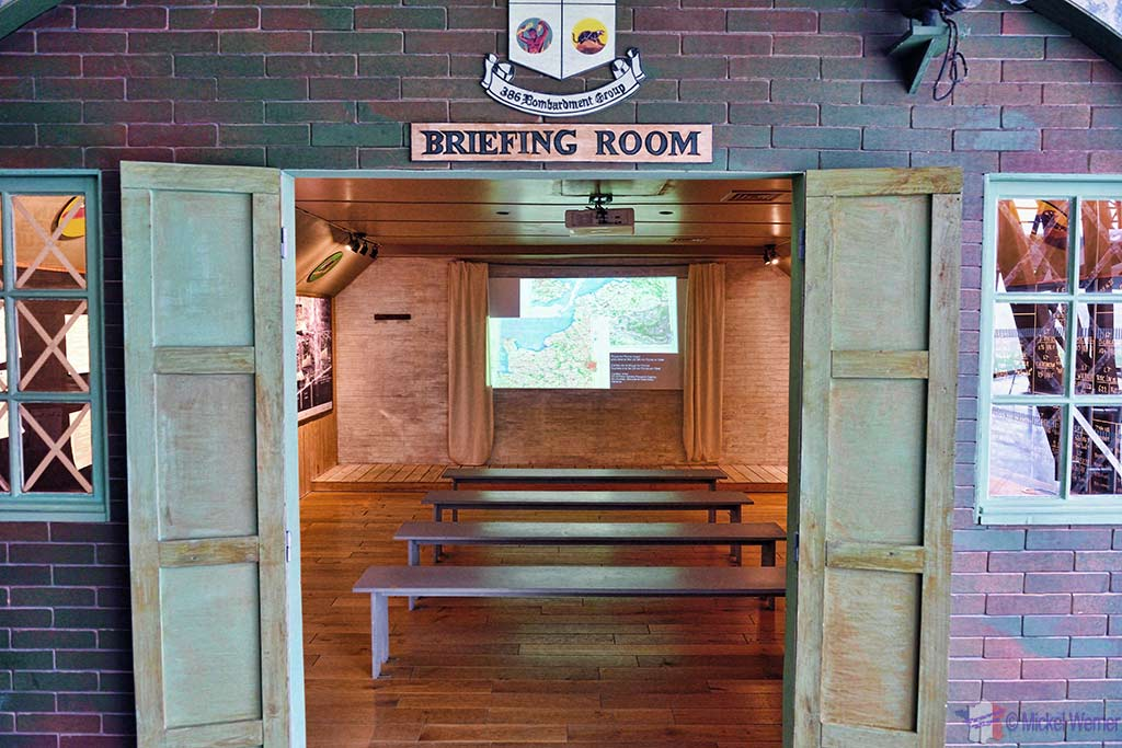 """""""Briefing Room"""" used to display the D-Day events at the Utah Beach Landing museum"""