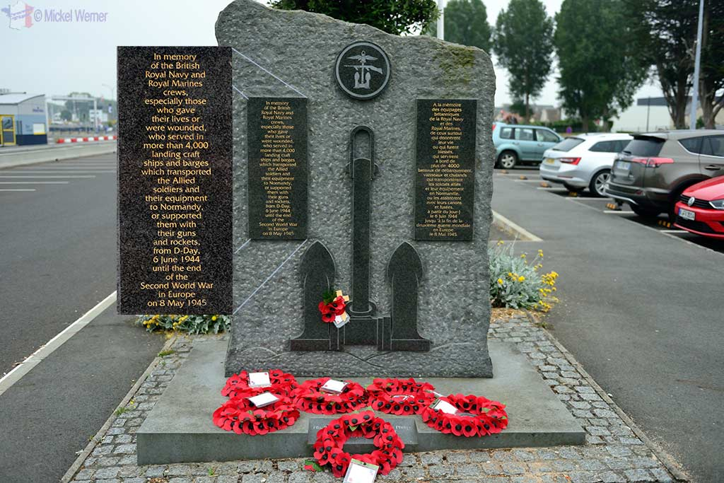 WWII Memorial in front of the Ouistreham ferry