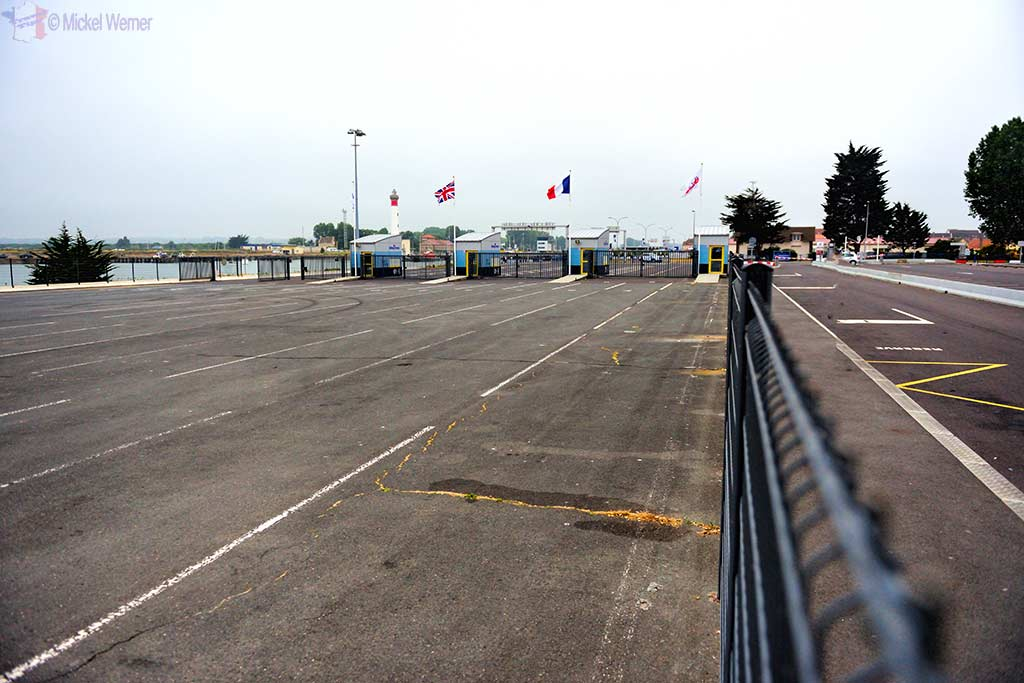Car entry point for the Ouistreham ferry
