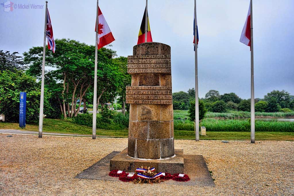 Main memorial of the Pegasus Bridge