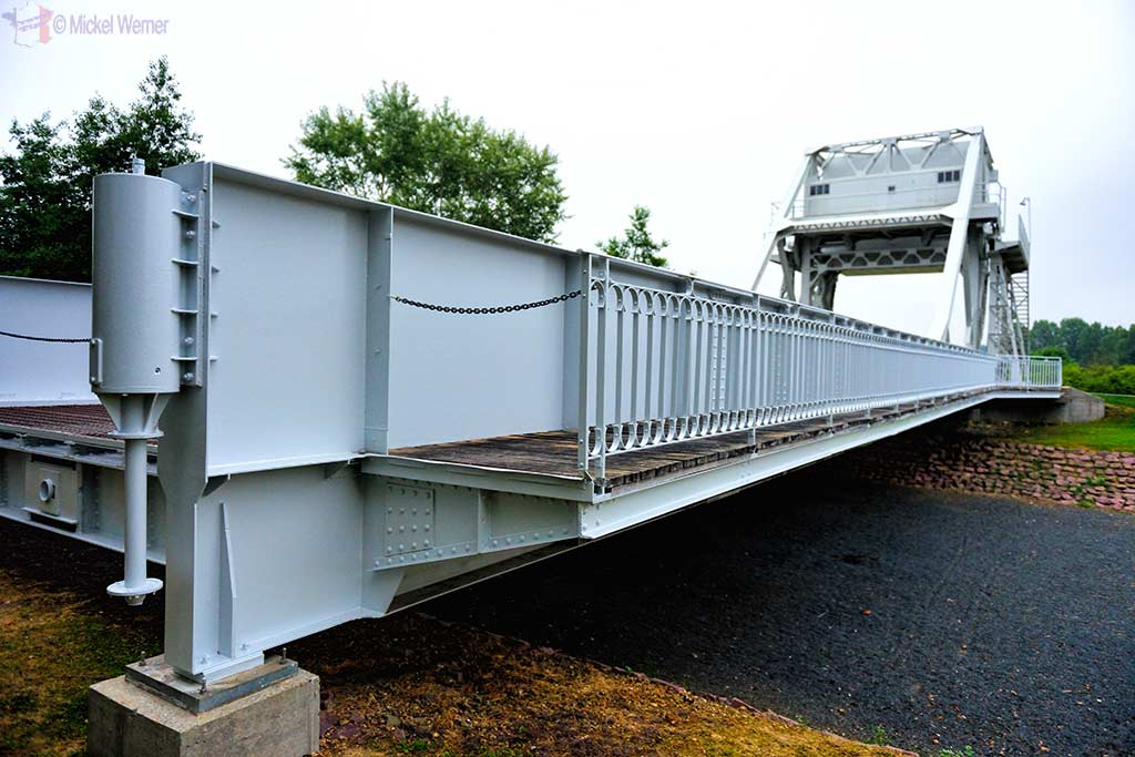 The actual Pegasus Bridge at the Memorial