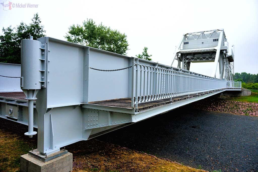 The actual Pegasus Bridge at the Memorial