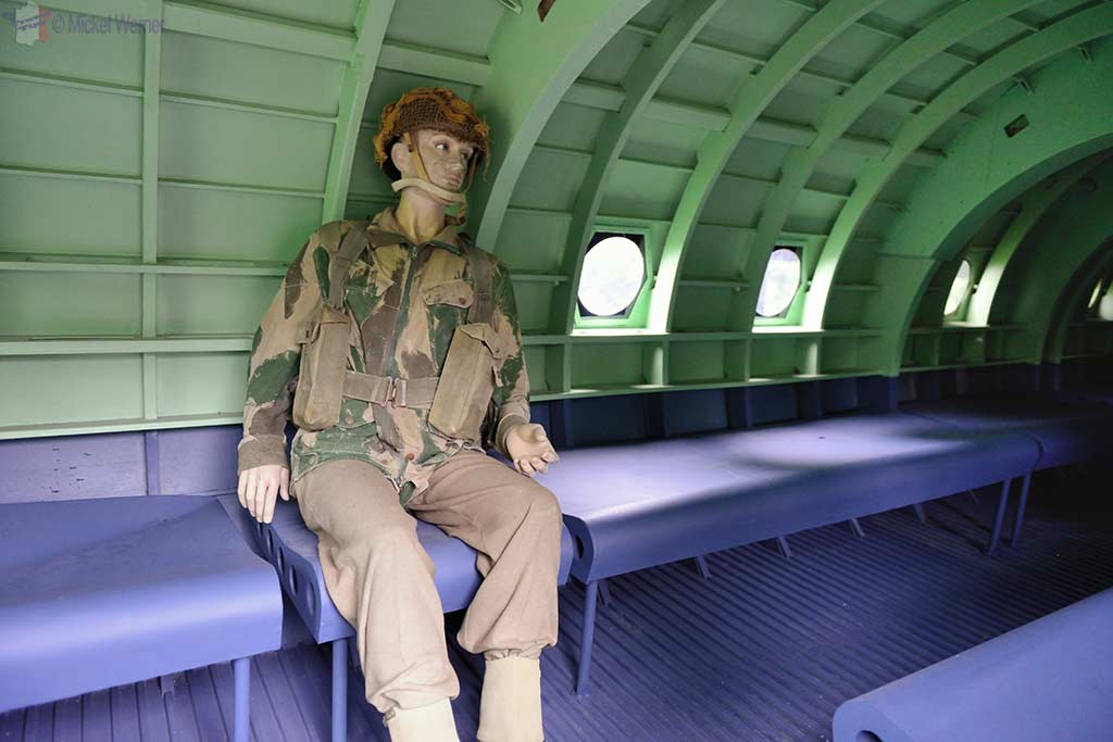 Inside a Horsa glider at the Pegasus Bridge Memorial Museum