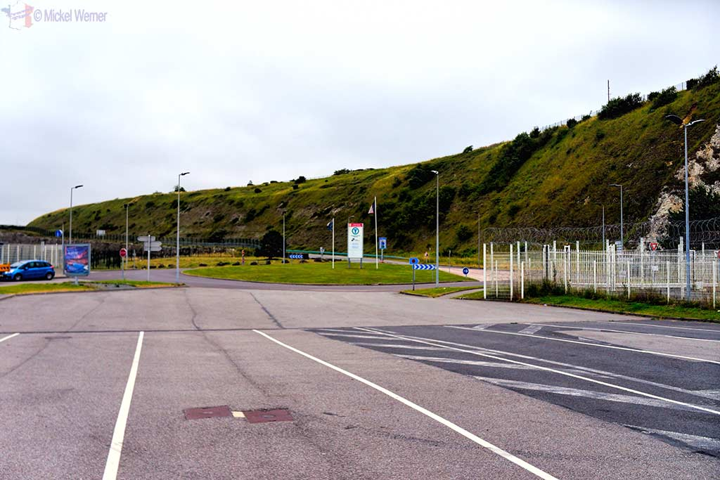 Roundabout in front of Dieppe ferry terminal