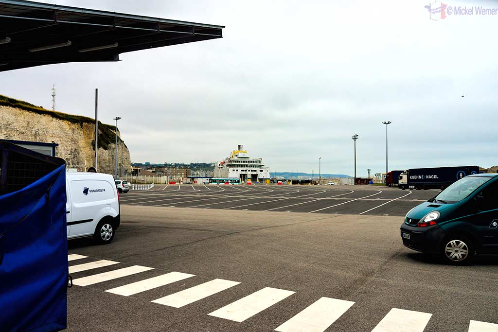 Lanes for boarding the Dieppe ferry