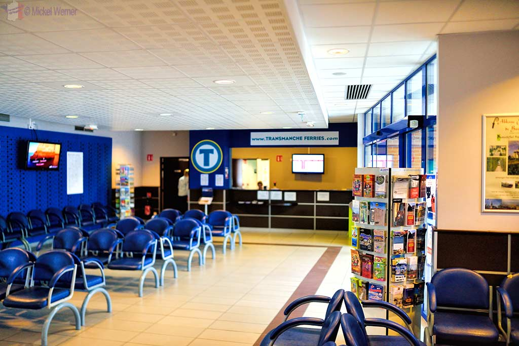 Waiting area for the Dieppe ferry