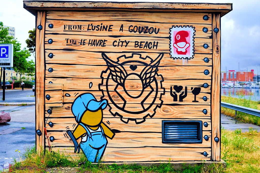 Delivery box of Gouzous by Jace in Le Havre