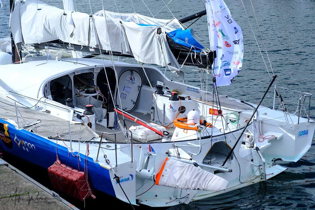Sailboat up close