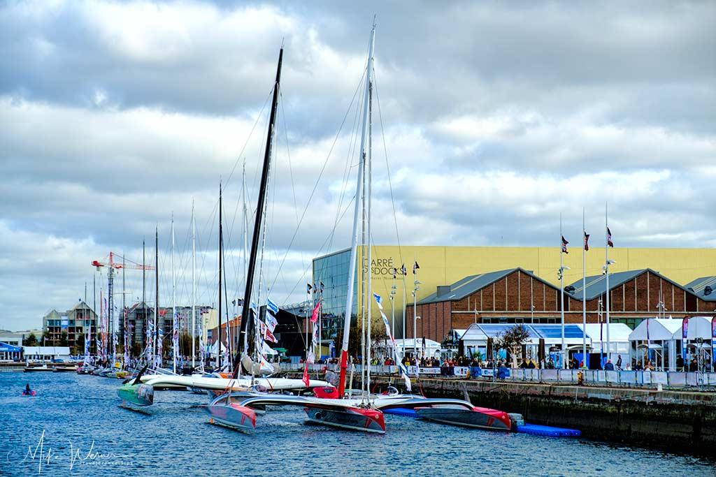 The imposing ULTIM class sailboats