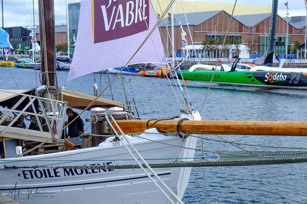 Vintage sailboats