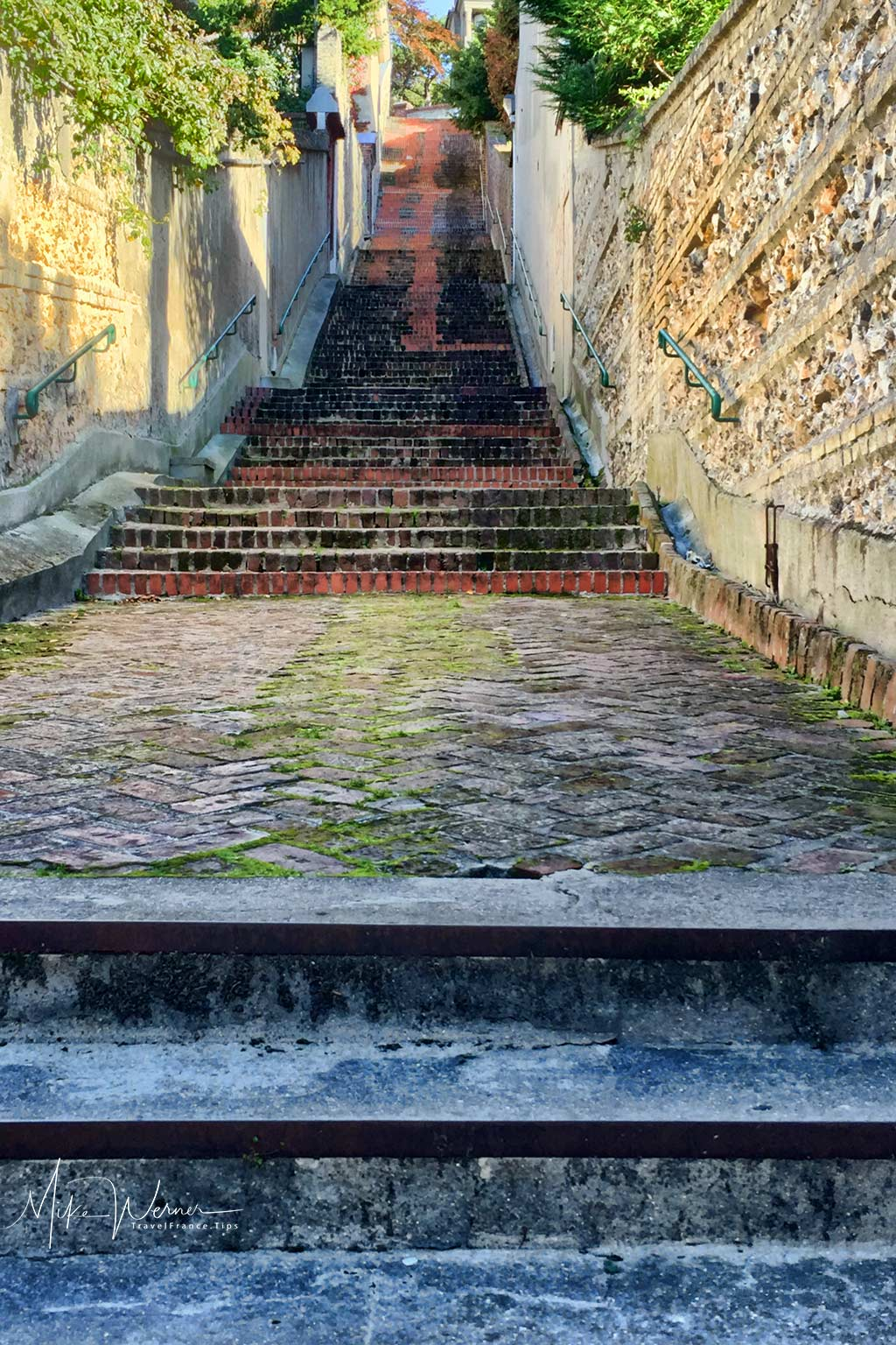 The stairs named Escalier de-la-Cote-Morisse in Le Havre, Normandy