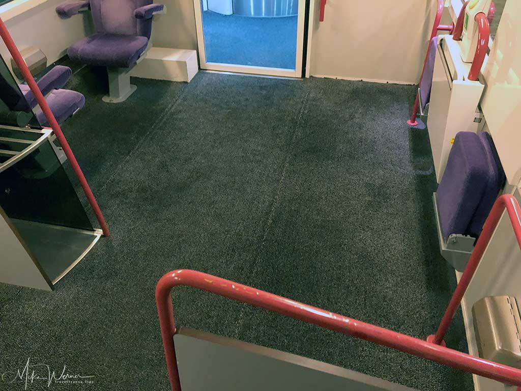 Wheelchair area of an Intercites train