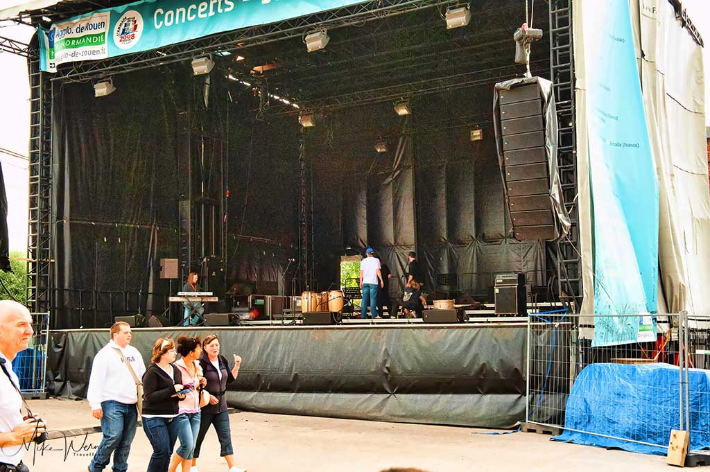 One of many different free concerts getting ready at the Armada in Rouen