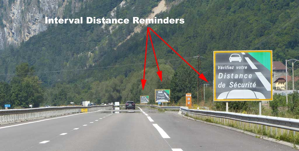 Respect Vehicle Distance Markers