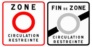 Start and end of restricted circulation zones