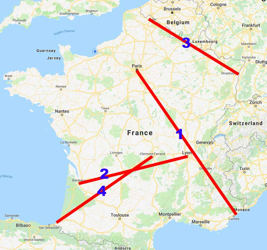 Travelling in France – Costs and Times