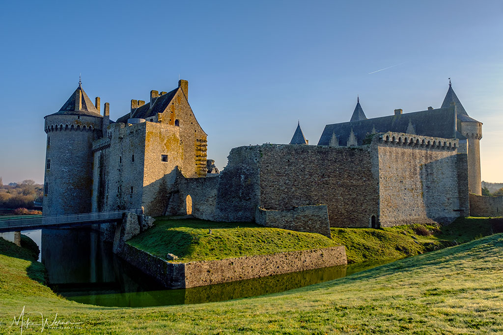 Chateau/Fortress Suscinio in Brittany, including a real moat