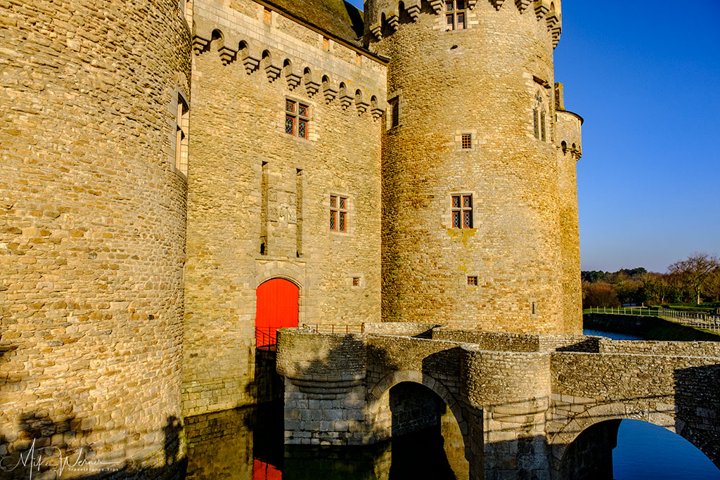The entrance of the Chateau/Fortress Suscinio in Brittany