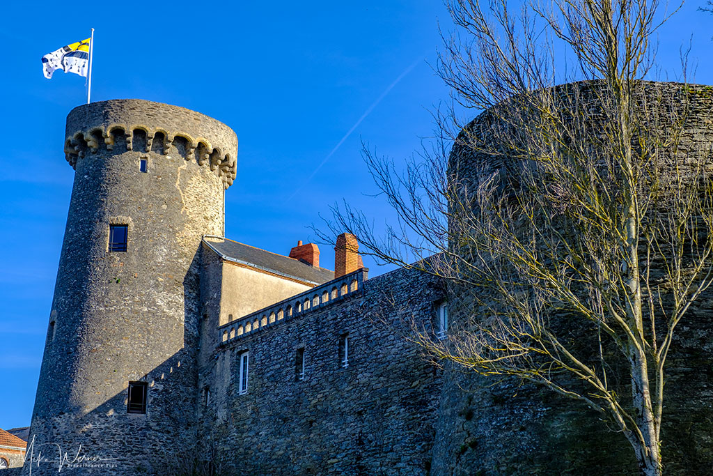 The living quarters of the Pornic castle in Brittany