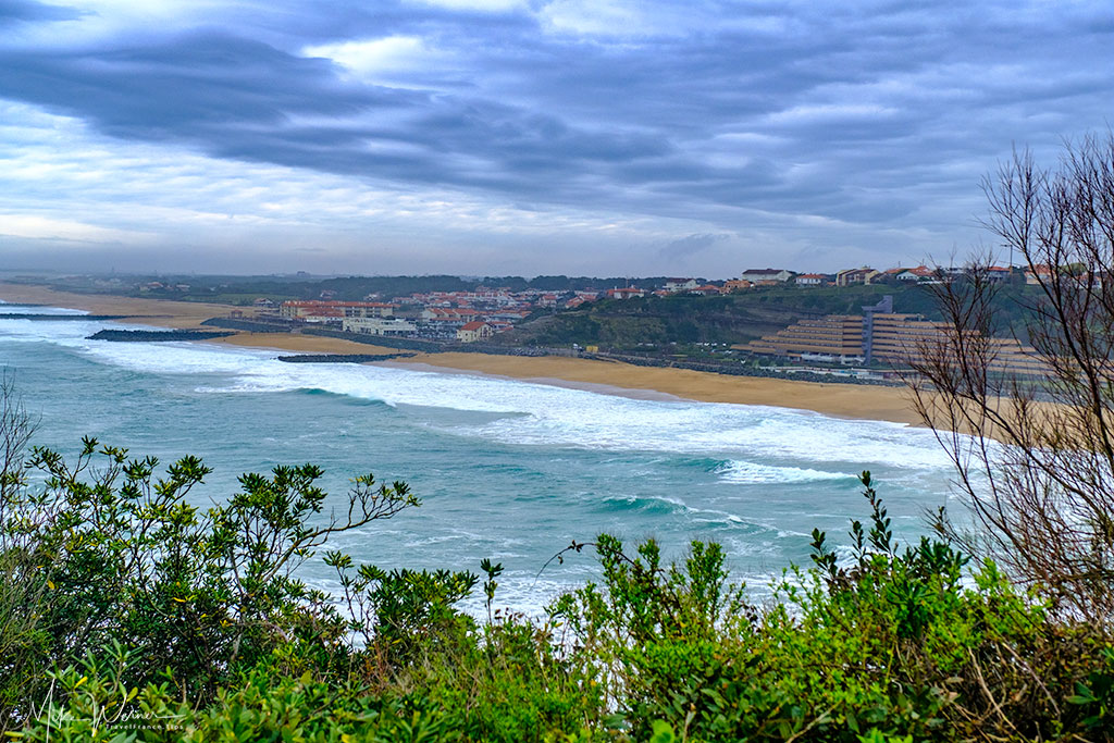 Anglet's Beach of the Little House of Love as seen from Biarritz