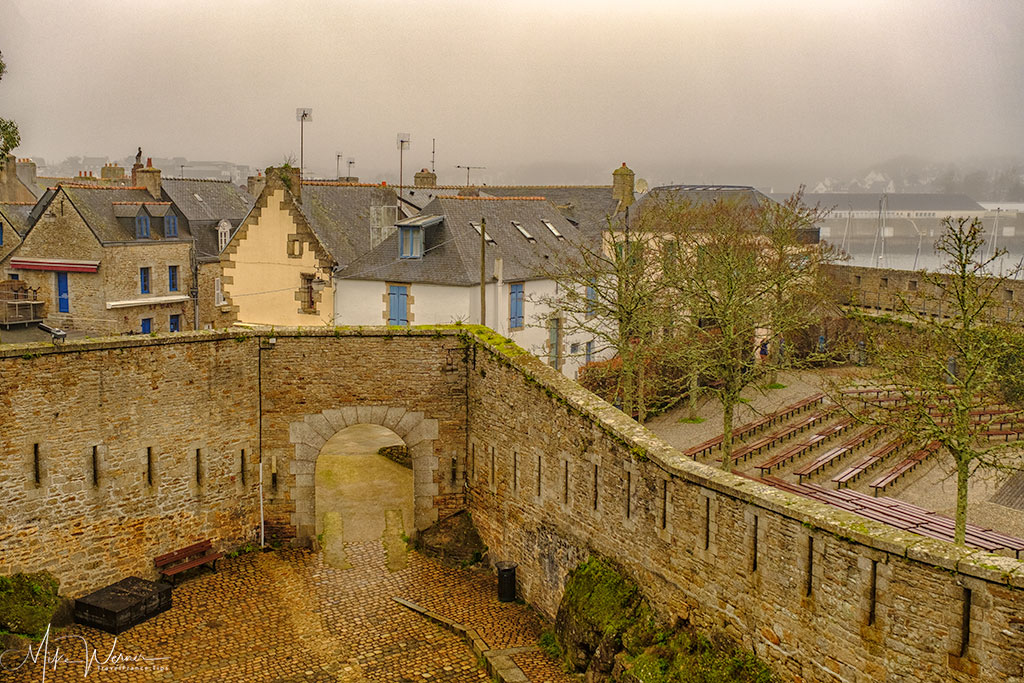 Open air theatre in the walled city of Concarneau'
