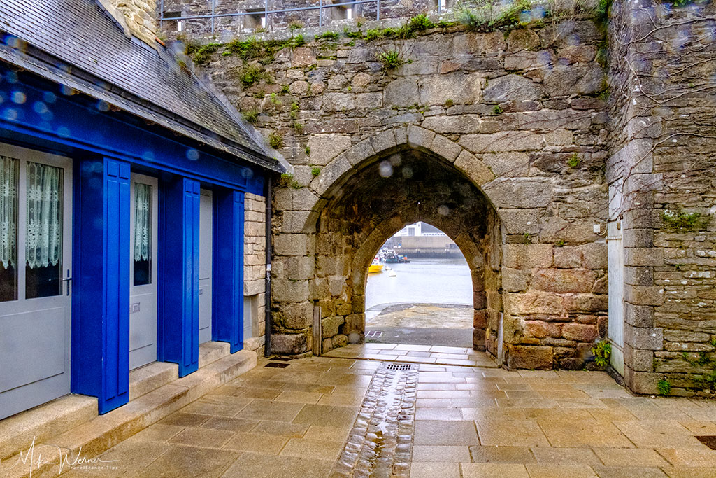 The old wine gate (porte aux vins) in the walled city of concarneau