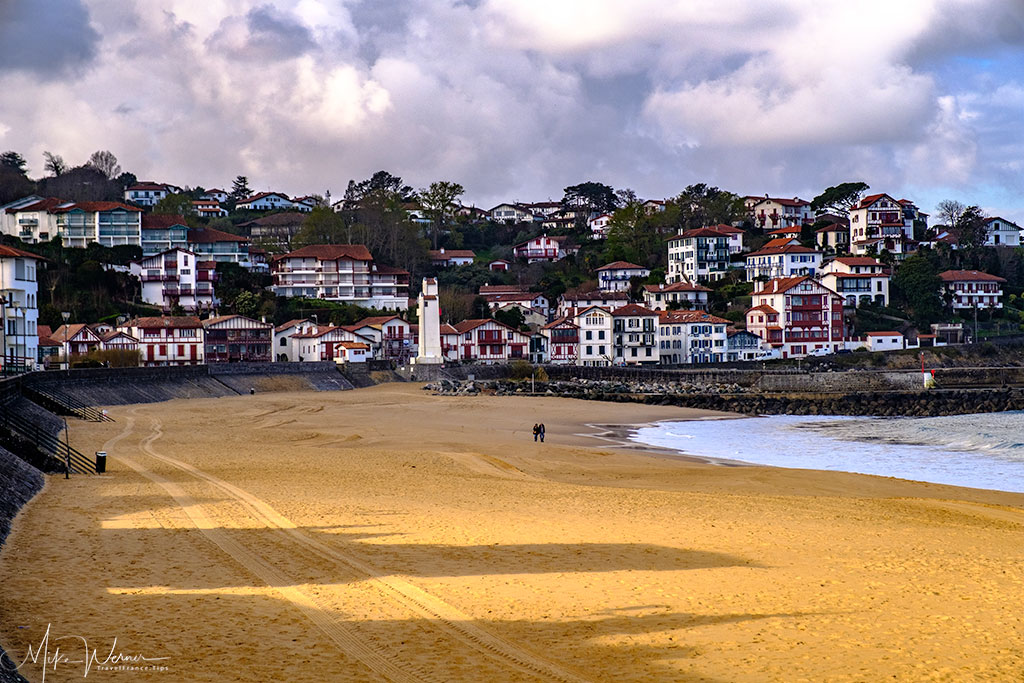 Beach area close to the city of Saint-Jean-de-Luz