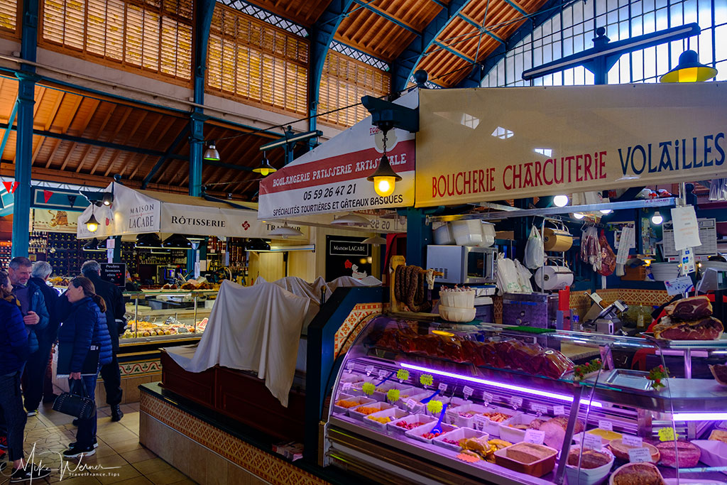 Inside the Saint-Jean-de-Luz food market