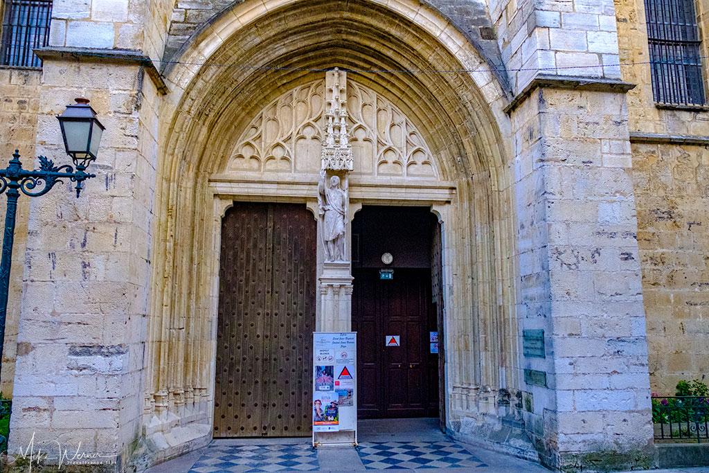 Main door of the Saint-Jean-Baptiste church in Saint-Jean-de-Luz