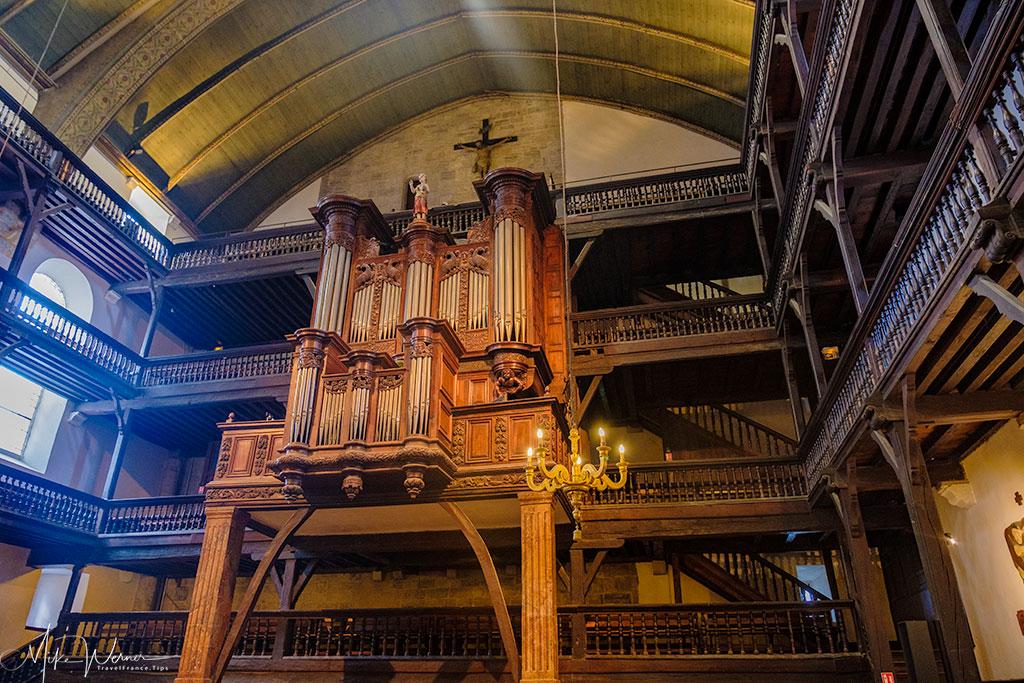 The organ of the Saint-Jean-Baptiste church in Saint-Jean-de-Luz