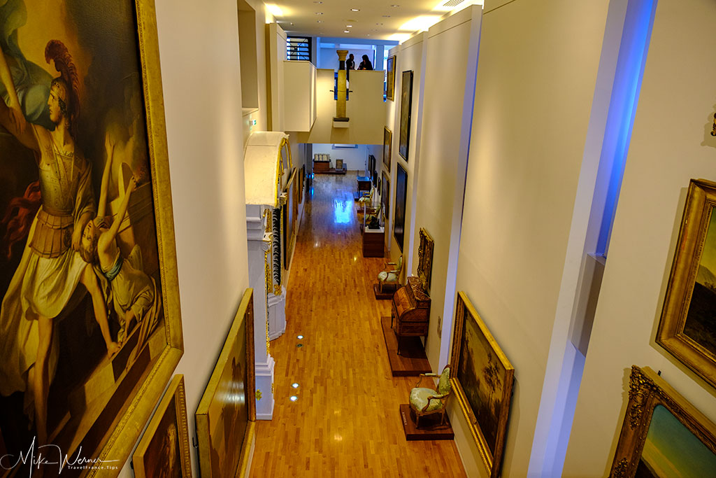 Different levels in the Valence museum of archaeology and art building