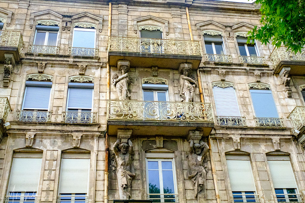 Decorated building in Valence'