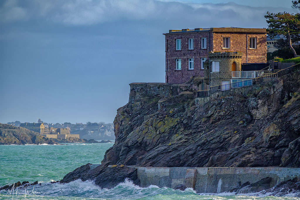 Houses along the Dinard promenade