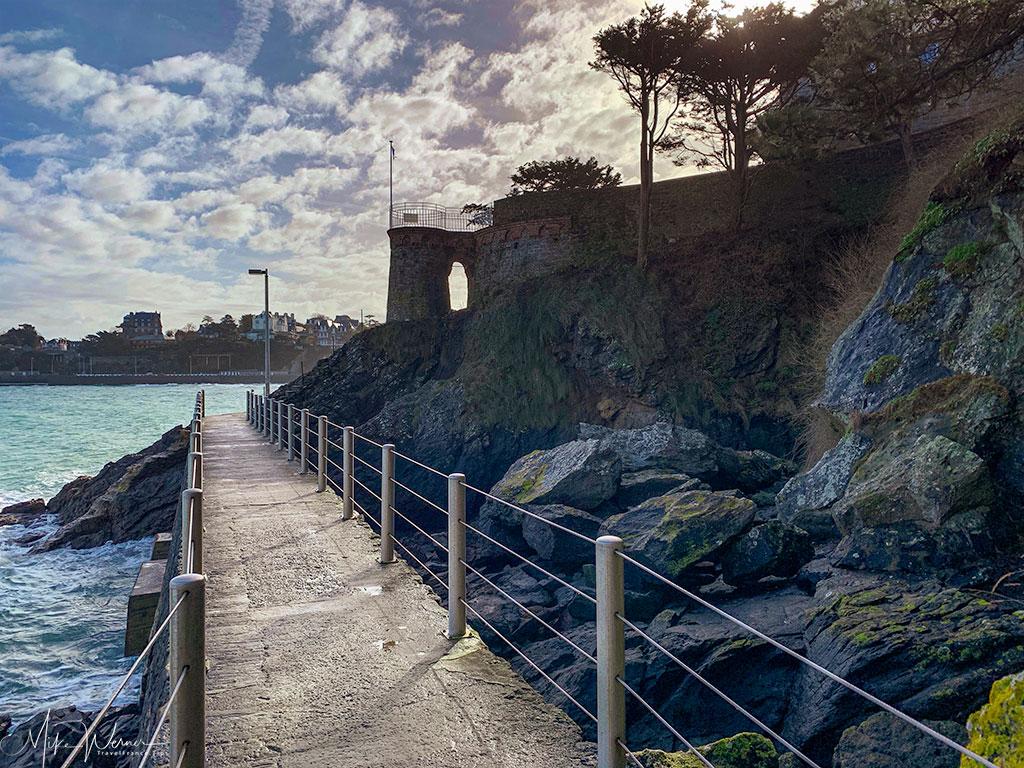 Protected promenade in Dinard